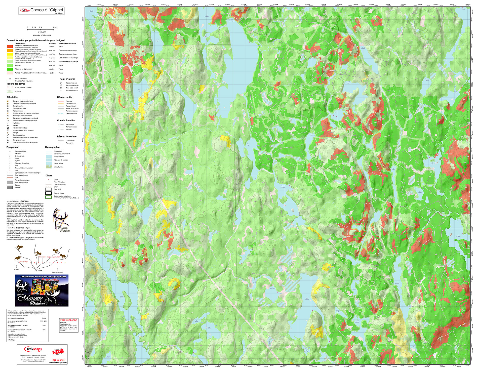 Example of Moose Hunting Map