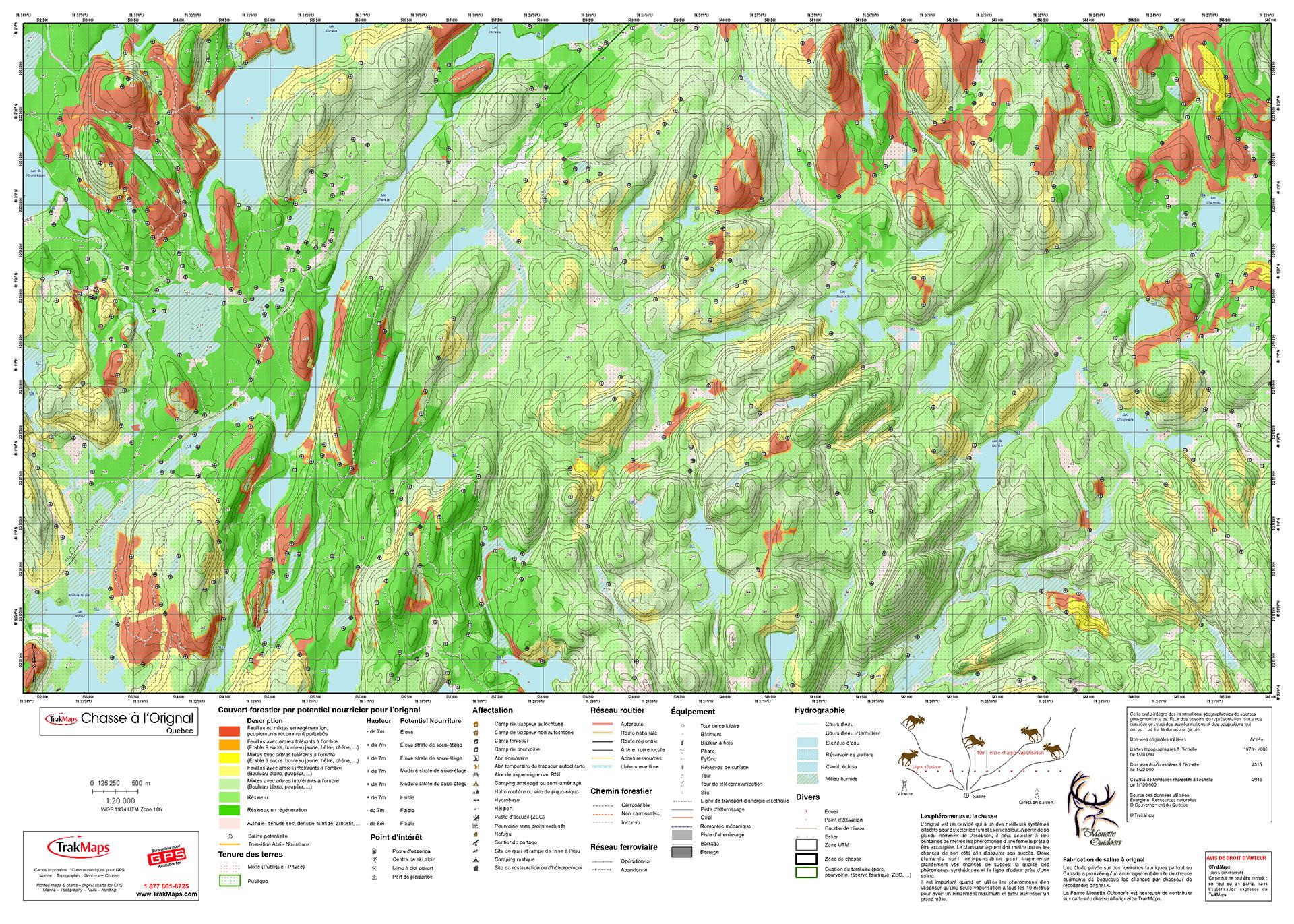 Printed Custom Moose Hunting Maps  TrakMaps