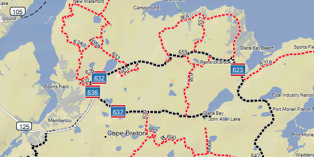 ATV Nova Scotia map for Garmin GPS including routable official ... Atv Gps Maps on
