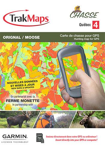 Hunting Quebec for Garmin including moose  deer hunting hot spots