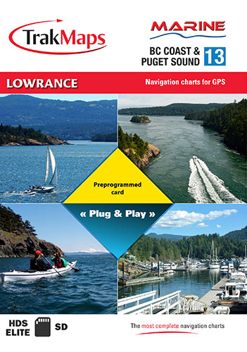 Marine BC Coast & Puget Sound for Lowrance GPS units