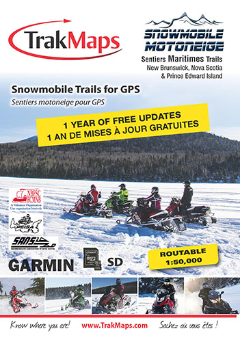 Snowmobile Maritimes for Garmin GPS units