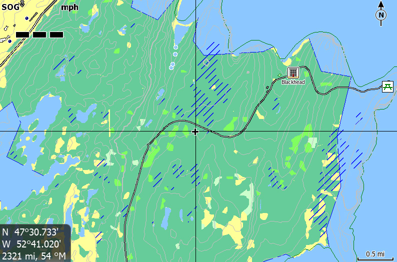 Topo Atlantic Canada Map For Lowrance Gps Including Contour Lines